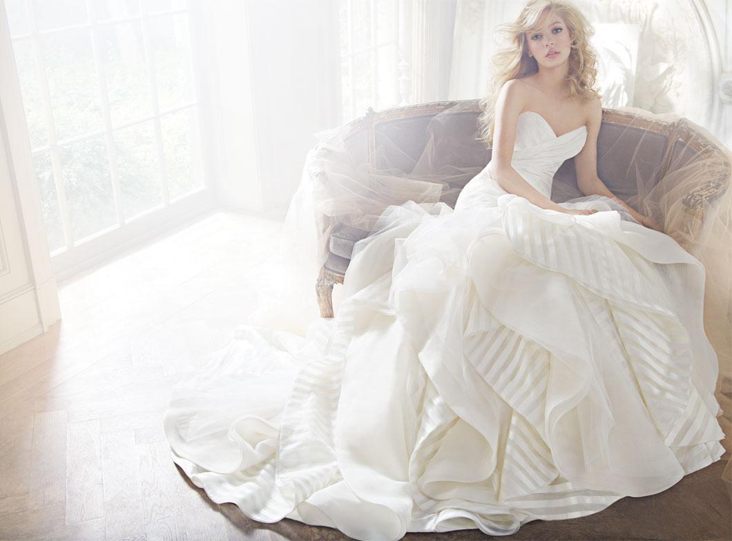 Striped Wedding Dresses 034 - Striped Wedding Dresses