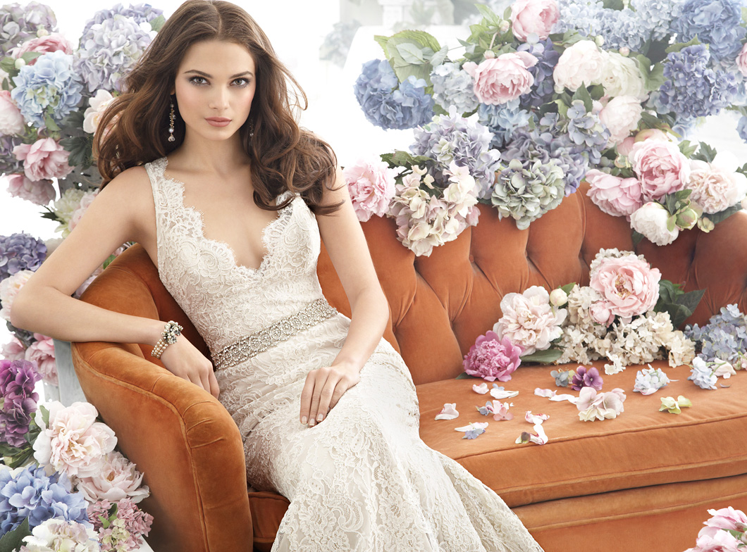 Jim Hjelm Bridal Gowns, Wedding Dresses Style jh8254 by JLM Couture, Inc.