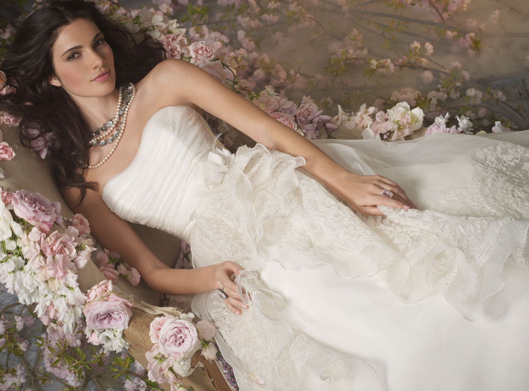 Jim Hjelm Bridal Gowns, Wedding Dresses Style jh8052 by JLM Couture, Inc.