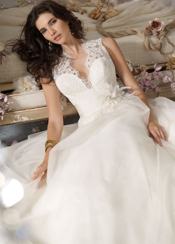 Jim Hjelm Bridal Gowns, Wedding Dresses Style jh8063 by JLM Couture, Inc.