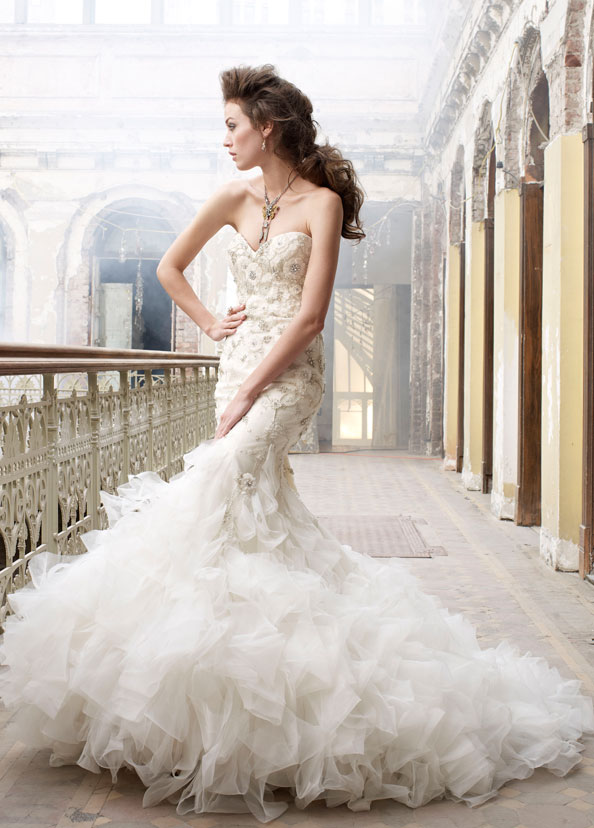 Lazaro Bridal Gowns, Wedding Dresses Style LZ3215 by JLM Couture, Inc.