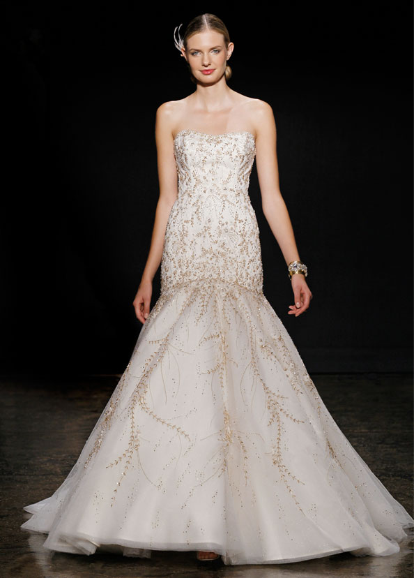 Lazaro Bridal Gowns, Wedding Dresses Style LZ3409 by JLM Couture, Inc.