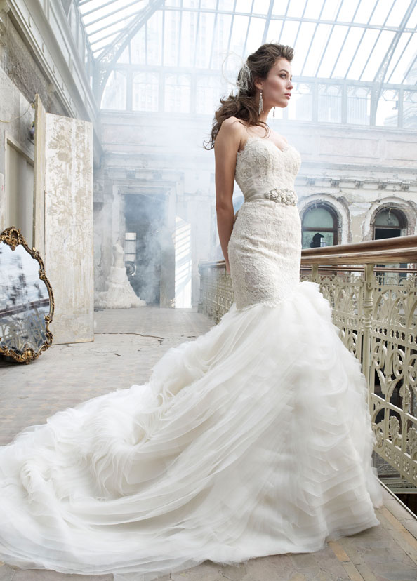 Lazaro Bridal Gowns, Wedding Dresses Style LZ3201 by JLM Couture, Inc.
