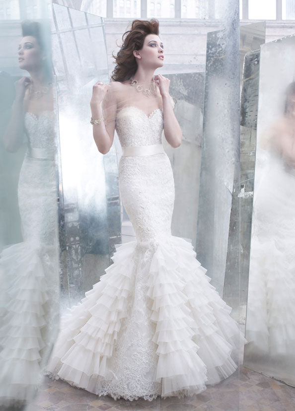 Lazaro Bridal Gowns, Wedding Dresses Style LZ3258 by JLM Couture, Inc.