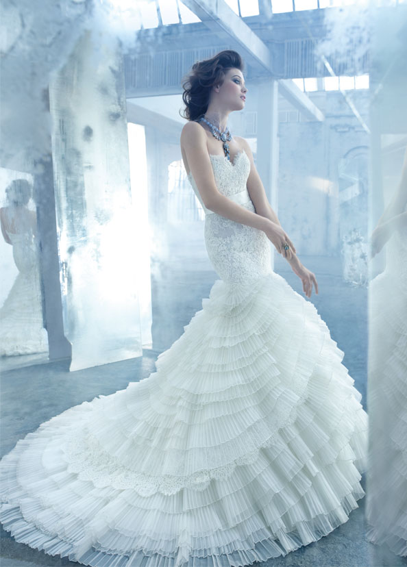 Lazaro Bridal Gowns, Wedding Dresses Style LZ3308 by JLM Couture, Inc.
