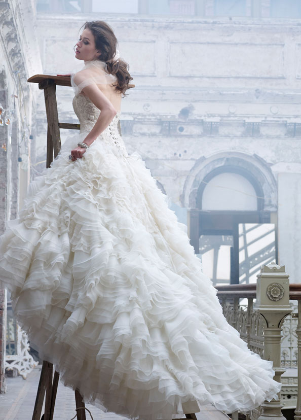 Lazaro Bridal Gowns, Wedding Dresses Style LZ3203 by JLM Couture, Inc.
