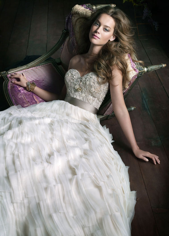 Lazaro Bridal Gowns, Wedding Dresses Style LZ3063 by JLM Couture, Inc.