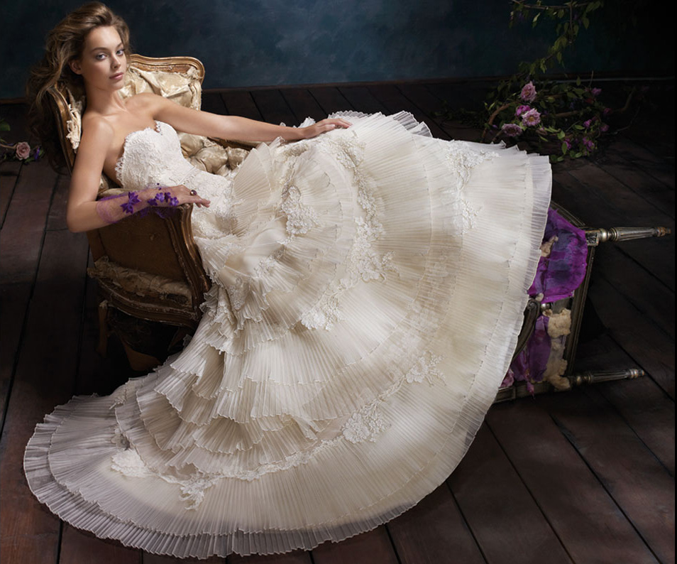 Lazaro Bridal Gowns, Wedding Dresses Style LZ3102 by JLM Couture, Inc.
