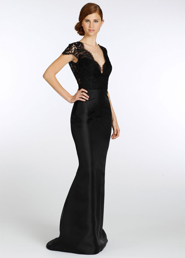 Lazaro Bridesmaid Dresses Black Lace - Free Wedding Dresses