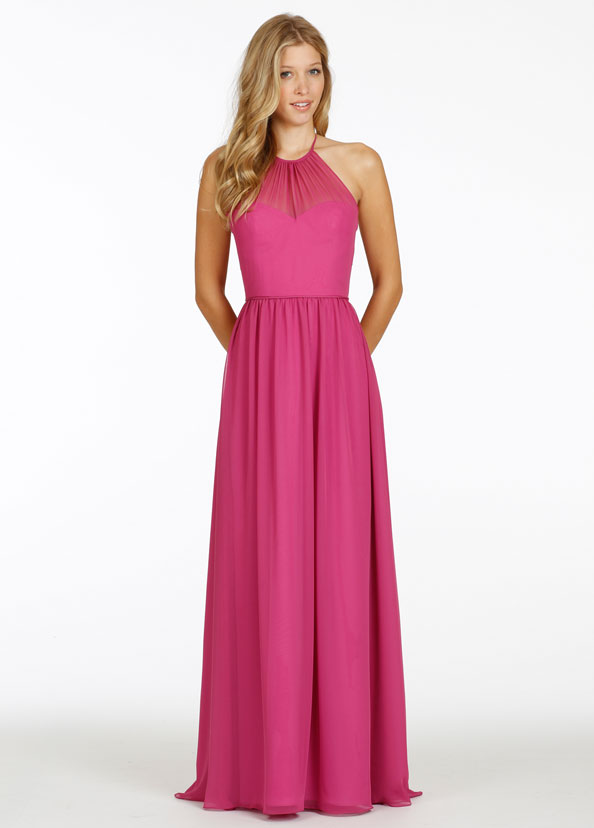 Raspberry Pink Bridesmaid Dresses - Overlay Wedding Dresses