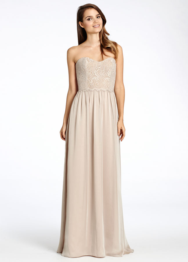 Jim Hjelm Luminescent Chiffon Bridesmaid Dresses - Wedding Short ...